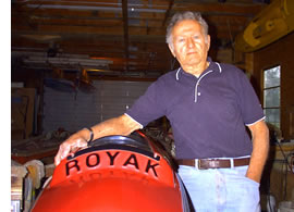 Roy Grabenauer with his namesake boat in 2004